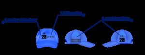 Water Skybsll cap markings